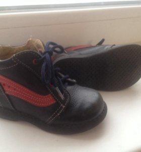 кожаные ботинки 22размер