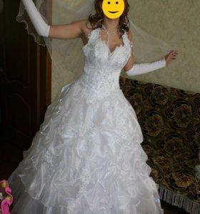 Свадебное платье 44-48 р.