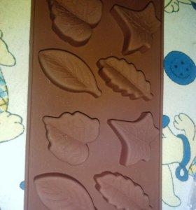 Формочка листочки.для выпечки.шоколада