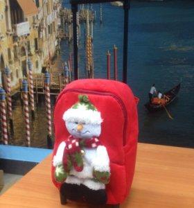 "Рюкзак-чемодан ""Веселый снеговик"""