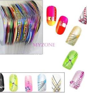 Декоративная лента для дизайна ногтей