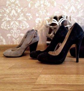 2е пары👠👠замшевой обуви