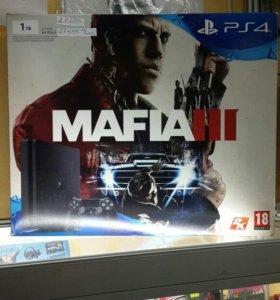 PlayStation 4  Slim 1TB+игра Мафия 3