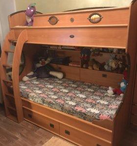 Детская мебель двухъярусная