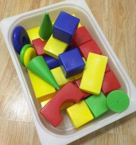 Кубики большие +ящик для хранения