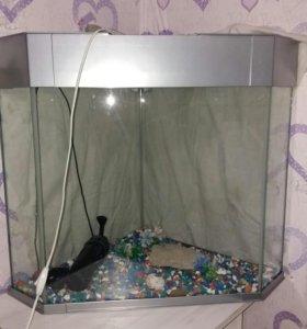 Угловой аквариум
