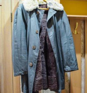 Куртка мужская меховая крытая, мех - овчина