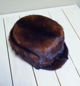 Мужская шапка норковая натуральный мех норка