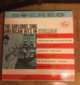 Винил  The Gaylords Sing American Hits In Italian