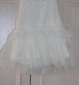 Белое платье на годик