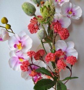 """Букет из искусственных цветов """"Орхидея мини"""""""