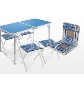 Стол походный + 4 стула