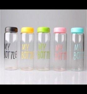 Бутылки цветные