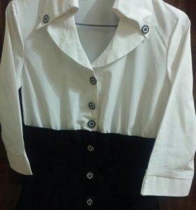 Блузка белая, низ темный