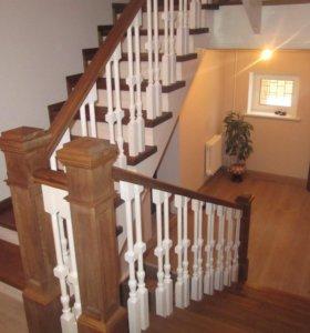 Изготовление лестниц  дерева