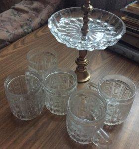 5кружек+ваза