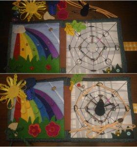 Текстильная развивающая книжка, фетровые игрушки