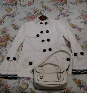 Плащ пиджак белый Yaya