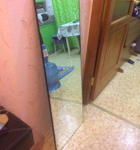 Зеркало толщина 5 мм ,размер 42*117