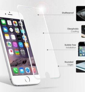 Защитное стекло на iPhone 6,6s,5,5c,5s,5se