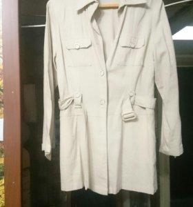 Тренч льненой и пиджак 46-48