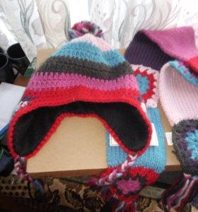 Шапка,шарф новые