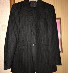 Новый мужской костюм Burberry оригинал шерсть