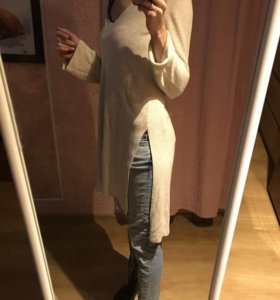 Туника Zara и джинсы Miss Sixty