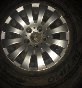 Резина Hankok 215 65 r15 с литым диском  от BMW