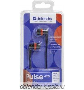 Гарнитура для смартфонов Pulse 420 черный + красны