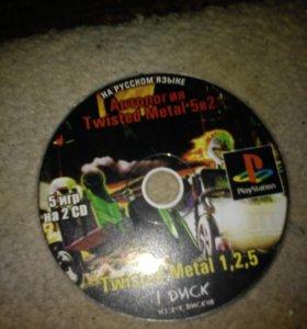 Диски на Sony PS1и2 без каробки