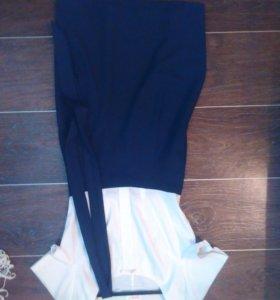 Платье. Бело синий.