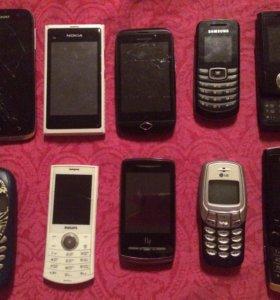 Кнопочные и сенсорные телефоны