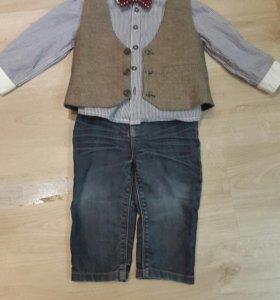 Костюм на мальчика,рубашка джинсы