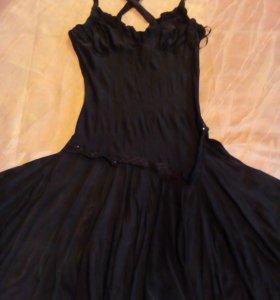 Платье р. 42-44 коричневое
