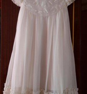 Платье для девочки с накидкой (ободок  в подарок )
