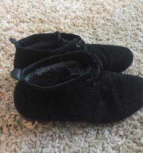Зимние ботинки (замшевые)