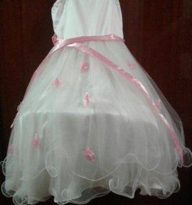Платье для девочек в цветочек