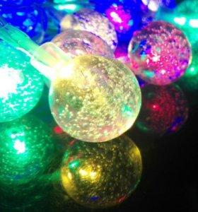 Волшебные шары гирлянда