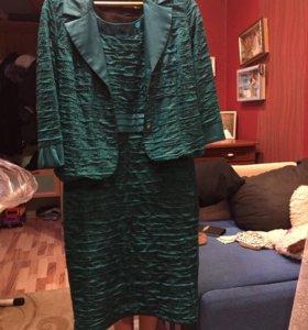 Платье с пиджаком  размер 48