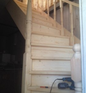 Установка меж этажных лестниц