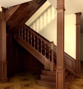 Деревянные лестницы ручной сборки. Эксклюзив.