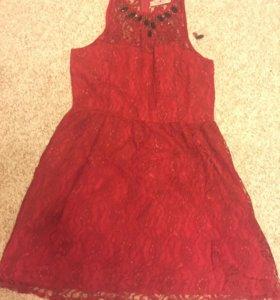 Платье красное 44-46