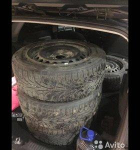 Зимние колёса на Рено Меган 3 Клио 3