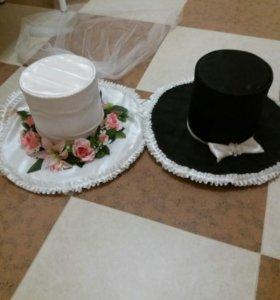 Шляпы для свадебной машины