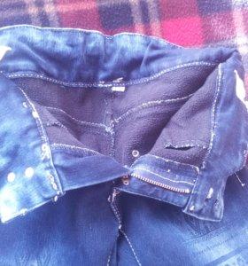 Детские теплые джинсы