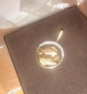 Золото (подвеска рыбы ♓)