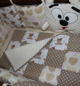Бортики, комплект в кроватку, одеяло навыписку