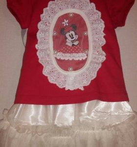 Комплект(футболка и юбка) для девочки.