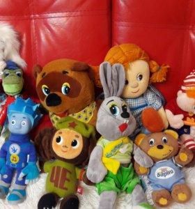 Мягкие игрушки мультяшки